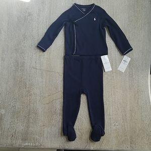 Ralph Lauren Dark Blue NWT 2pc set (9M)
